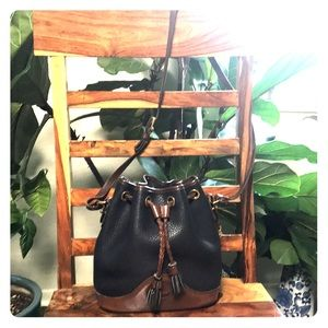 Dooney & Bourke Vintage Leather Bucket Bag